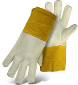 BOSS Grain Cowhide TIG Welder Gloves, Long Cuff, Size Large (12 Pair)