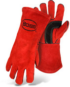 Red Cowhide Leather Welding Gloves by BOSS