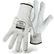 BOSS Leather Palm Cut Resist Knit Gloves, HPPE Fiber Blend, Cut Level 4, Size Medium (12 Pair)