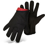 Boss Jersey Knit Assembly Gloves, Red Fleece Lined, One Size (12 Pair)