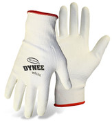 BOSS Dynee White HPPE Blend Cut Resistant Gloves w/ PU Coated Palm & Fingers, Size Large (12 Pairs)