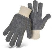 BOSS Heavyweight Terry Cloth Cotton Gloves, Gray, One Size (12 Pair)