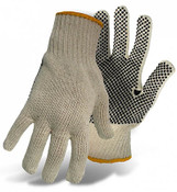 BOSS Reversible String Knit Gloves w/ PVC Dotted Palm, Size Large (12 Pair)