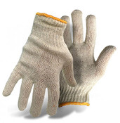 BOSS 60/40 Cotton/Poly Natural Color String Knit Gloves, Size Large (12 Pair)