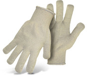 BOSS Lightweight Natural Terry Cloth Cotton Gloves, One Size (12 Pair)