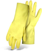 "BOSS 18 mil Latex Glove, Flock Lined, 12"" Cuff, Size Small (12 Pair)"