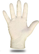 Disposable 4 Mil Lightly Powdered Latex Exam Grade Gloves, Size Large
