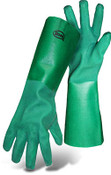 "BOSS 18"" Economy Double Dipped Green PVC Lined Gloves, Size Large (12 Pair)"