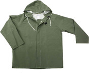 Green 50mm PVC Poly Lined Rain Jacket, Size: 2XL (5 Jackets/Pkg)