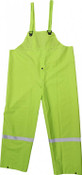 High-Vis Green 35mm PVC Poly Lined Overall w/ Reflective Trim, Size: XL (5 Overalls/Pkg.)