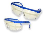 Extendable Temple Glasses, Blue Frame/Gray Lense (12 Pairs)