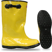 "BOSS 17"" Yellow Rubber Over-the-Shoe Slush Knee Boot, Size: 9 (1 Pair)"