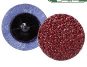 "Quick Change Discs - Aluminum Oxide - 3"" Type R, Grit: 24, Mercer Abrasives 390302 (25/Pkg.)"