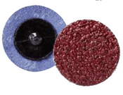"Quick Change Discs - Aluminum Oxide - 3"" Type R, Grit: 120, Mercer Abrasives 390312 (25/Pkg.)"