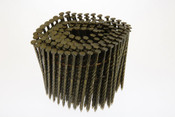 "2-1/2"" x .113"" 15-Degree Wire Coil Nails - 304 Stainless Steel, Ring Shank (3,600 Pcs./Box)"