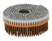 "1-7/8"" x .092"" 0 Degree Plastic Sheet Coil Nails - Electrogalvanized (9-Micron), Ring Shank (9,000 Pcs./Box)"