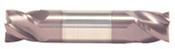 "5/32"" Cut Dia x 5/16"" Flute Length x 2"" OAL Solid Carbide End Mills, Stub Length, Double End Square, 2 Flute, AlTiN - Hard Coat (Qty. 1)"