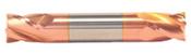 "1/2"" Cut Dia x 5/8"" Flute Length x 3"" OAL Solid Carbide End Mills, Stub Length, Double End Square, 4 Flute, TiCN Coated (Qty. 1)"