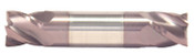 "3/16"" Cut Dia x 3/8"" Flute Length x 2"" OAL Solid Carbide End Mills, Stub Length, Double End Square, 4 Flute, AlTiN - Hard Coat (Qty. 1)"