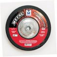 "4"" x 1/4"" x 3/8"" A24S T27 Depressed Center Grinding Wheel - Dual Grit, Mercer Abrasives 620010 (25/Pkg.)"