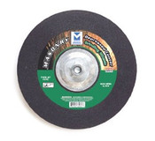 "4-1/2"" x 1/4"" x 7/8"" C24S T27 Depressed Center Grinding Wheel for Masonry - Single Grit, Mercer Abrasives 621060 (25/Pkg.)"