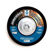 "5"" x 1/4"" x 7/8"" AZ24T T27 Depressed Center Grinding Wheel, Zirconia for Stainless Steel - Single Grit, Mercer Abrasives 622080 (25/Pkg.)"