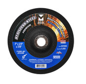 "5"" x 1/4"" x 7/8"" AT24R T27 Depressed Center Grinding Wheel for Stainless Steel - Single Grit, Mercer Abrasives 623530 (25/Pkg.)"