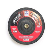 "5"" x 1/4"" x 7/8"" A24U T27 Depressed Center Grinding Wheel - Single Grit,  Mercer Abrasives 624040 (25/Pkg.)"