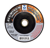 "5"" x 1/4"" x 7/8"" AC24R T27 Premium Depressed Center Grinding Wheel - Single Grit, Mercer Abrasives 627080 (25/Pkg.)"