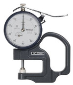 "Mitutoyo Series 7 Dial Thickness Gage, 0-1.0"" Range, 1.18"" Throat Depth"