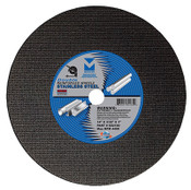 "14"" x 3/32"" x 1"" Low Horsepower Chop Saw Wheel for Stainless Steel - Double Reinforced, Mercer Abrasives 602100 (10/Pkg.)"