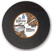 "12"" x 1/8""(5/32) x 1"", 20 mm Cut-Off Wheel with Dual Arbors for Portable Gas Saw - Double Reinforced - Ductile,  Mercer Abrasives 606050 (10/Pkg)"