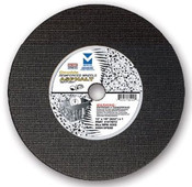 "12"" x 1/8""(5/32) x 1"" Cut-Off Wheel for Portable Gas Saw - Double Reinforced - Asphalt,  Mercer Abrasives 611010 (10/Pkg.)"