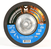 "5"" x 1/8"" x 5/8""-11 AT24R T27 Depressed Center Pipe Cutting and Grinding Wheel for Stainless Steel - Single Grit, Mercer Abrasives 623640 (20/Pkg.)"