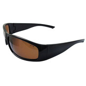 ERB Boas Extreme Safety Glasses, Black Frame/Brown Smoke Polarized Lens 17923 (12 Pr.)