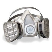 3M 5201 Half Facepiece Disposable Respirator for Organic Vapor, Medium (1 Mask)
