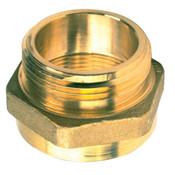 "Hex Adapter, 1 1/2"" NPT(F) x 1 1/2"" NST(M)"