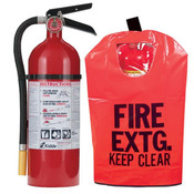 5 lb ABC Pro Line Fire Extinguisher w/ Fire Extinguisher Cover w/ Window