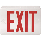 Red LED Exit Sign w/ Battery Backup