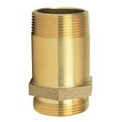 "Pin Rack Nipple, 1 1/2"" NPT x NST, Brass"