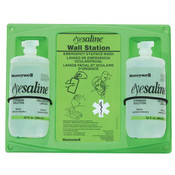 Eyesaline® Double Eyewash Station, 64 oz (2–32 oz Bottles)