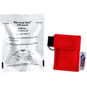 Ambu® Res-Cue Key CPR Face Shield w/ 1-Way Valve & Red Nylon Pouch