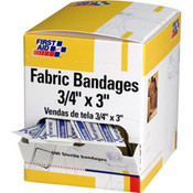 "Fabric Bandages, 3/4"" x 3"", 100/Box"