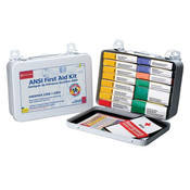16-Unit, 103-Piece Unitized First Aid Kit w/ Gasket, Metal