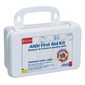 10-Unit, 64-Piece Unitized First Aid Kit w/ Gasket, Plastic
