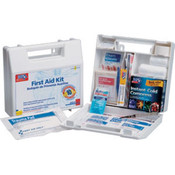 10-Person, 63-Piece Bulk First Aid Kit w/ Dividers (Plastic)