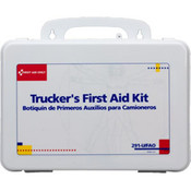 16-Unit, 88-Piece Trucker's First Aid Kit (Plastic)