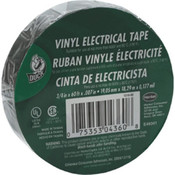 "Duck Brand Electrical Tape, 7 mil Vinyl, 3/4"" x 60', Black"