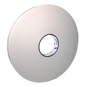 "Doubled-Coated PE Foam Tape, 1/16"" thick. 36 mm x 33 m. White."