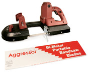 "Aggressor Port-A-Band Bi-Metal Portable Bandsaw Blades, Constant Pitch (B4424),  44 7/8"" x 1/2"" x 0.02"", 18 Raker TPI (3/Pkg.)"